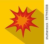heavy explosion icon. flat
