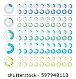 set of pie chart infographic... | Shutterstock .eps vector #597948113