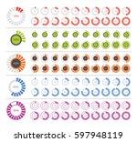 set of diagram infographic... | Shutterstock .eps vector #597948119