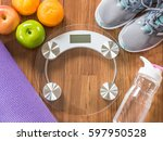 healthy sporty lifestyle clean... | Shutterstock . vector #597950528