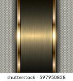 metal gold background  metallic ... | Shutterstock .eps vector #597950828