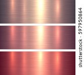 metal textures pink and red... | Shutterstock .eps vector #597950864