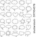 set of  30 blank effects... | Shutterstock .eps vector #597954578
