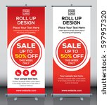 roll up brochure flyer banner... | Shutterstock .eps vector #597957320