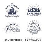 set of outdoors activity badges.... | Shutterstock . vector #597961979