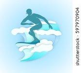 vector illustration silhouette... | Shutterstock .eps vector #597970904