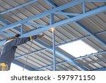 welder industrial automotive... | Shutterstock . vector #597971150