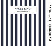 simple stripes seamless pattern.... | Shutterstock .eps vector #597978710