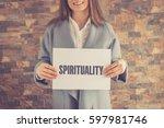 spirituality concept | Shutterstock . vector #597981746