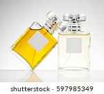 Two Perfume Bottles Isolated O...