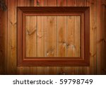photo frame over pannel wood... | Shutterstock . vector #59798749