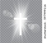 religioush three  crosses with... | Shutterstock .eps vector #597999116