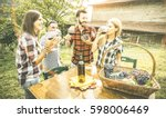 happy friends having fun...   Shutterstock . vector #598006469