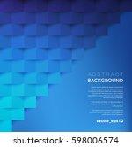 abstract vector background.... | Shutterstock .eps vector #598006574