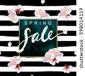 """spring sale"" hand written... | Shutterstock . vector #598014119"