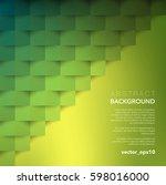 abstract vector background.... | Shutterstock .eps vector #598016000