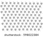 black and white pattern with... | Shutterstock .eps vector #598022384