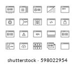 set of 48x48 minimal browser ... | Shutterstock .eps vector #598022954