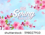 spring sale vector background... | Shutterstock .eps vector #598027910
