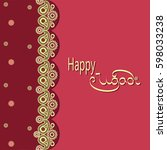 india. paisley. pattern. happy... | Shutterstock .eps vector #598033238