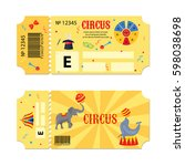 tickets for circus performances.... | Shutterstock .eps vector #598038698