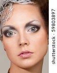 portrait of cosmic fashion girl ... | Shutterstock . vector #59803897
