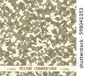 vector camouflage | Shutterstock .eps vector #598041353