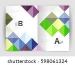 modern minimalistic geometrical ... | Shutterstock .eps vector #598061324