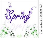 spring  flower background ...   Shutterstock .eps vector #598062560