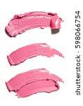 pink makeup smear of lip gloss... | Shutterstock . vector #598066754