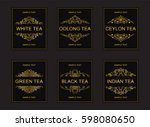 vector labels  badges or... | Shutterstock .eps vector #598080650