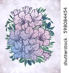 floral highly detailed hand... | Shutterstock .eps vector #598084454