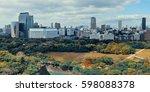 osaka urban city park rooftop... | Shutterstock . vector #598088378