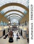 Small photo of PARIS, FRANCE - MAY 13: D'Orsay interior view on May 13, 2015 in Paris. It host the world's largest collection of impressionist and post-impressionist masterpieces.
