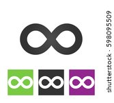 infinity sign vector icon | Shutterstock .eps vector #598095509