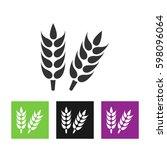 wheat  millet  barley  rye ... | Shutterstock .eps vector #598096064