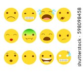 emojis version 2 smiley emotions | Shutterstock . vector #598098458