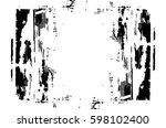 grunge black and white urban... | Shutterstock .eps vector #598102400