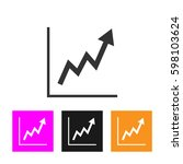 growing graph icon | Shutterstock .eps vector #598103624