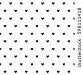 heart pattern seamless...   Shutterstock .eps vector #598111418