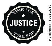 time for justice stamp.sign... | Shutterstock .eps vector #598113356