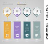 infographics design template... | Shutterstock .eps vector #598115078