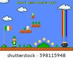 happy saint patrick's day... | Shutterstock .eps vector #598115948