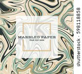 marbled paper background in... | Shutterstock .eps vector #598118858