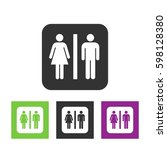 vector man and woman icons ... | Shutterstock .eps vector #598128380