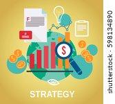 business strategy design | Shutterstock .eps vector #598134890