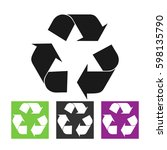 recycle sign | Shutterstock .eps vector #598135790