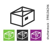 package  parcel  gift  box icon ...   Shutterstock .eps vector #598136246
