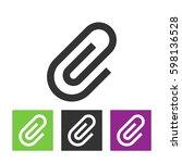 office paper clip sign.... | Shutterstock .eps vector #598136528