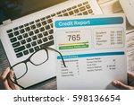 report credit score banking... | Shutterstock . vector #598136654